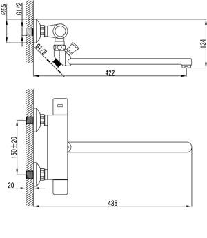 """LM7734C """"Термо"""" Смеситель универсальный термостатический, хром"""