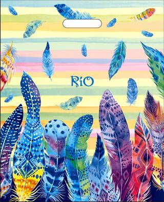 """Пакет ПВД (38х47см) с вырубной ручкой """"Рио"""" 60мкм"""