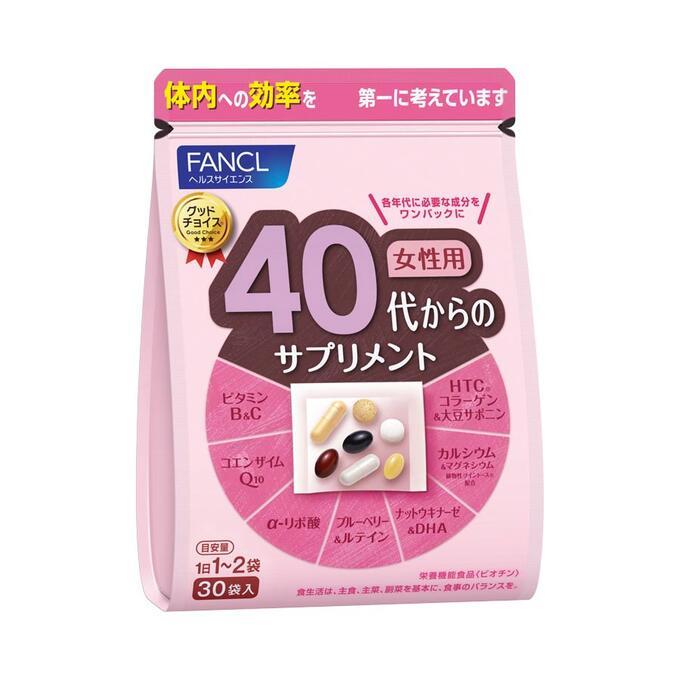 FANCL 40+ - сбалансированный комплекс витаминов и минералов для возраста 40+ лет