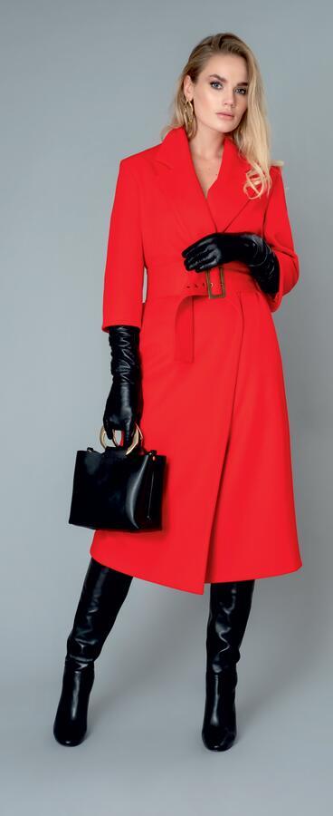 Пальто ПАЛЬТО ЖЕНСКОЕ ДЕМИСЕЗОННОЕ  Рукав длинный. Состав верха : 95% шерсть, 5% ПА Состав подкладки : 52% ПЭ, 48% вискоза
