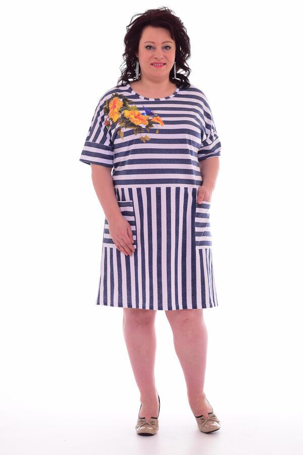 Платье женское 4-48 (синий)