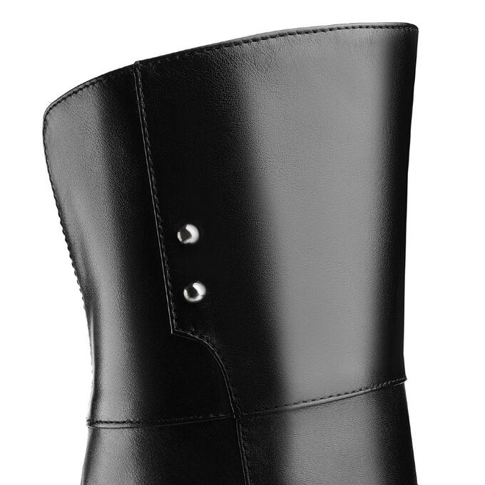Ботфорты зимние на низком каблуке. Модель 1249 н евро (зима)