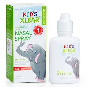 Xlear, Kid's Xlear, солевой назальный спрей, 22 мл
