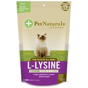Pet Naturals of Vermont, L-лизин для кошек, куриная печенка, 60 жевательных пастилок (90 г)