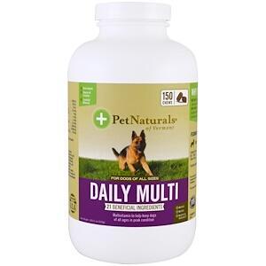 Pet Naturals of Vermont, Ежедневный поливитамин для собак, 150 жевательных пастилок