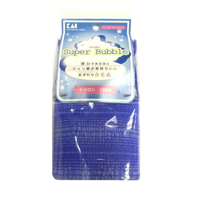 Мочалка для тела (с объемным плетением жесткая), 30 см х 100 см. Цвет: Синий