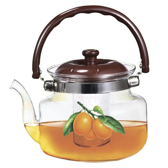"""Чайник заварочный 1200мл ВЕ-5563/1 """"Апельсин"""" с металлическим фильтром"""