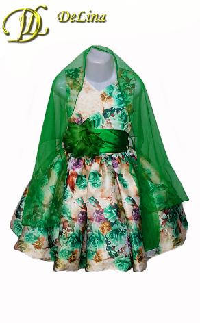 Платье Мадемаузель 3d зеленый