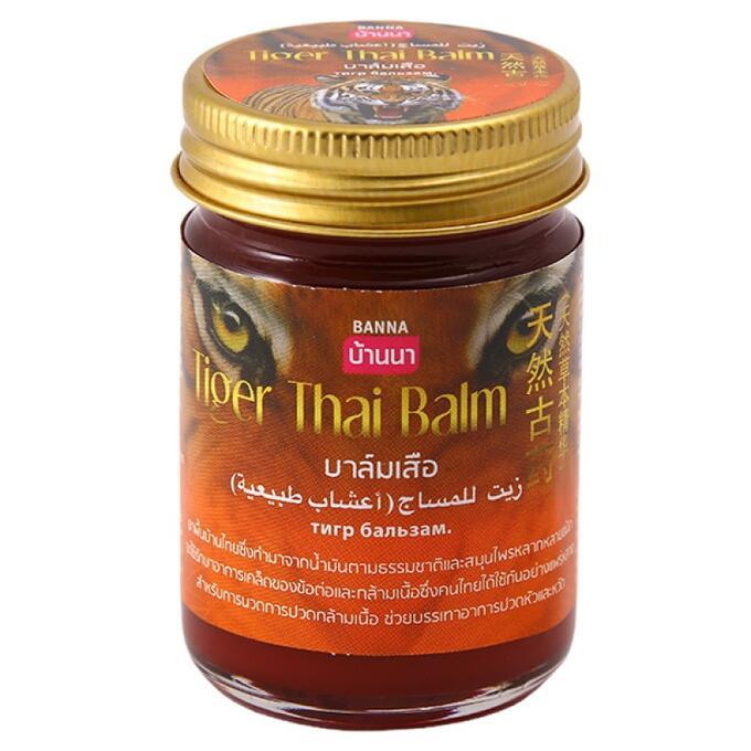 Тайский красный бальзам Тигровый, Banna, 50 гр.