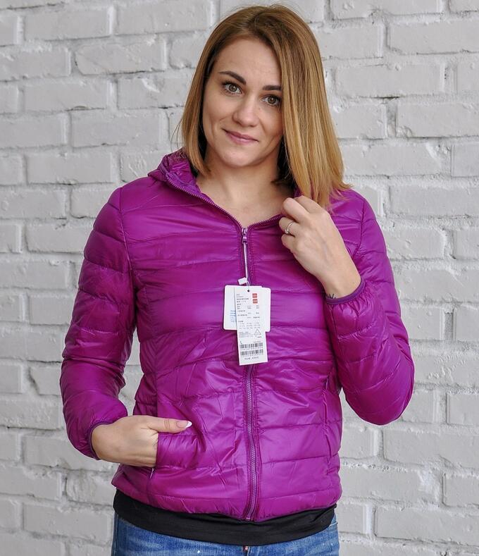 Ультралегкая женская куртка с капюшоном, цвет фиолетовый