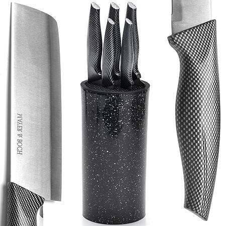 27431 Набор ножей 6пр с топором на подстав.MB(х10)