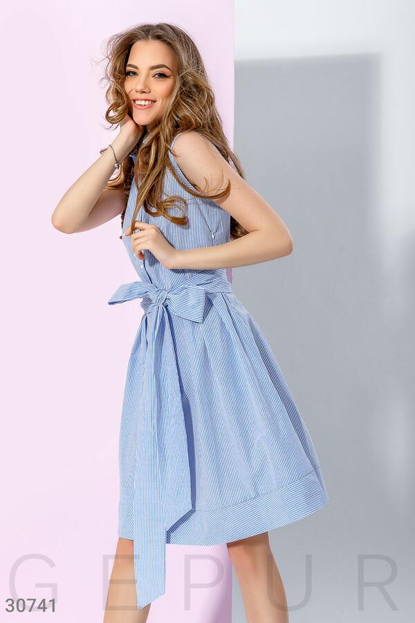 Хлопковое платье без рукавов