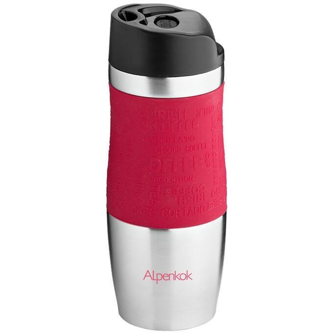 Термокружка вакуумная 400мл Alpenkok AK-04003A бордовая