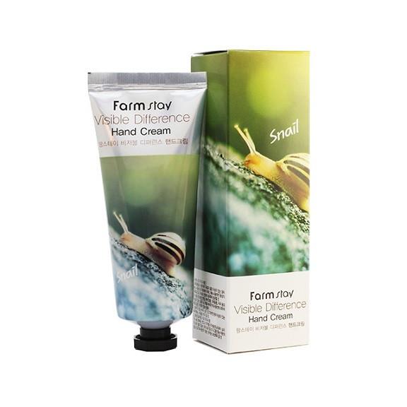 Крем для рук с экстрактом улитки FarmStay Visible Difference Snail Hand Cream, 100ml