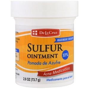 De La Cruz, Серная мазь, лечение акне, максимальный эффект (73.7 г)