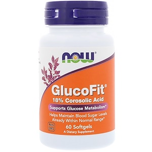 Now Foods, Глюкофит, 60 мягких желатиновых кап.