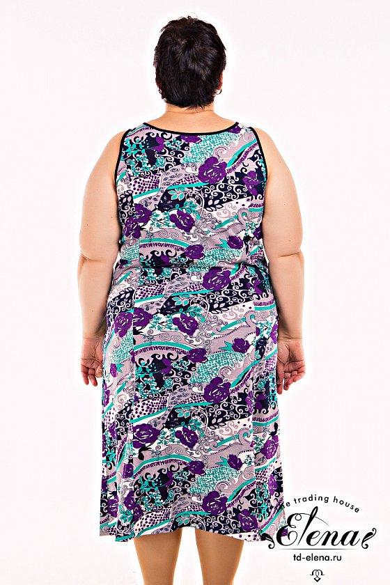 Сарафан  % Сарафан женский выполнен из 100% хлопковой ткани. Простой покрой обеспечивает удобство повседневной носки, в качестве отделки горловины использован фигурный вырез в форме капли, разнообрази