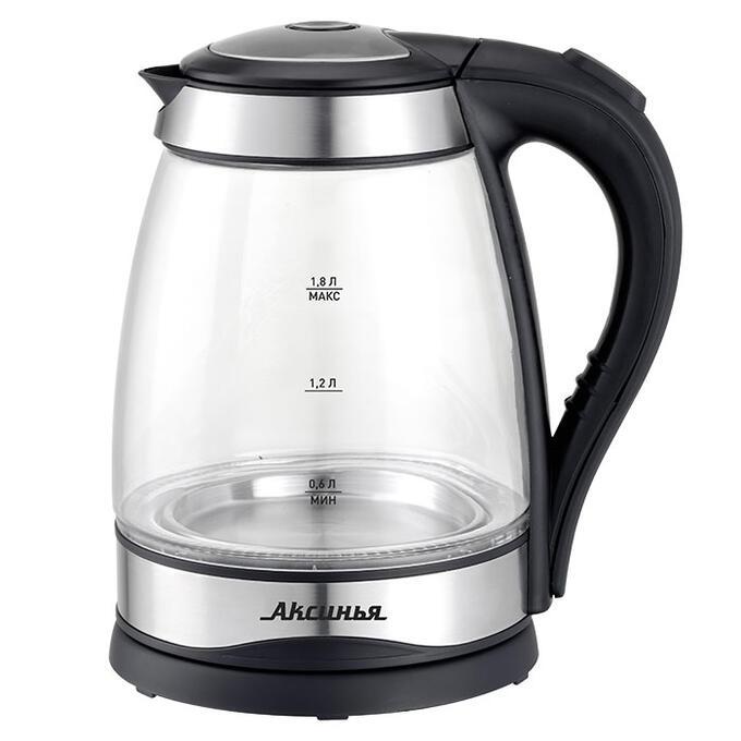 Чайник электрический 2200 Вт, 1,8 л АКСИНЬЯ КС-1003 черный