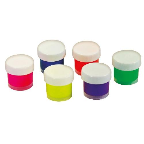 Краски акриловые флуоресцентные 6 цв.