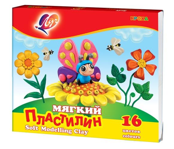 Пластилин мягкий Кроха 16 цветов