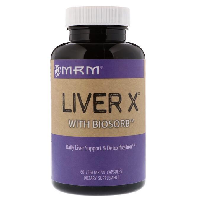 MRM, Liver X с BioSorb, 60 растительных кап