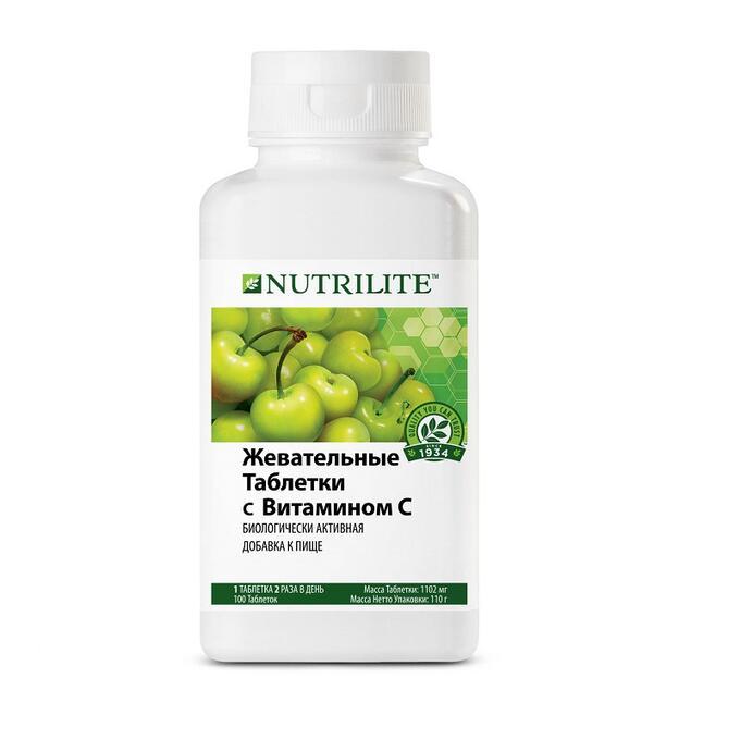Жевательные таблетки с витамином С NUTRILITE