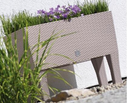Кашпо для цветов с автополивом RATO CASE HIGH DRTC600H-7529U мокко 2 предмета 30л