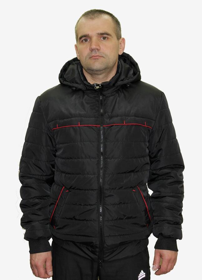 Демисезонная куртка с капюшоном Код: 02 чёрный