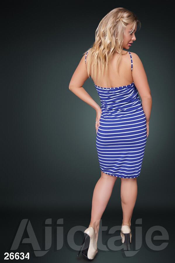 Пляжное платье в полосочку с запахом