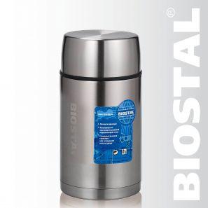 """Термос Biostal """"Авто"""" NRP-1000 1,0л (широкое горло,суповой, с термочехлом)"""