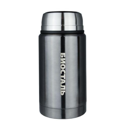 Термос Biostal NTS-750V 0,75л (широкое  горло, суповой с ложкой, воронёная сталь)