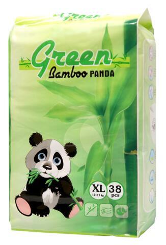 Детские подгузники-трусики GREEN BAMBOO PANDA, XL38