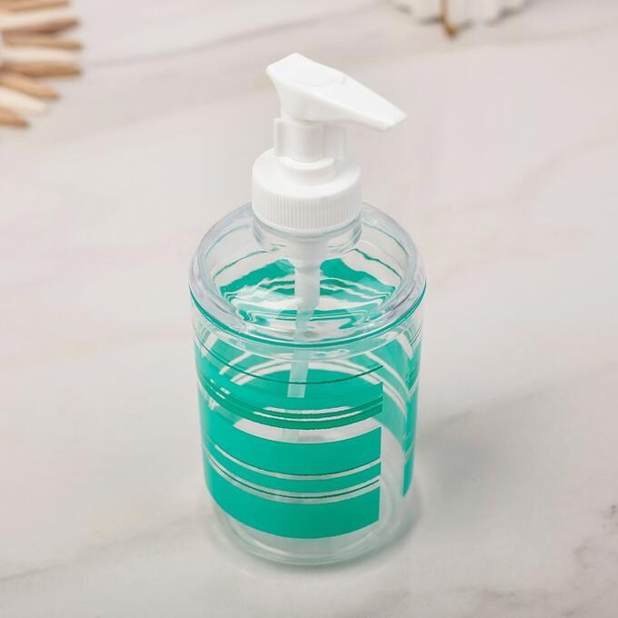 Набор аксессуаров для ванной комнаты «Полосы», 3 предмета (дозатор 280, мыльница, стакан)