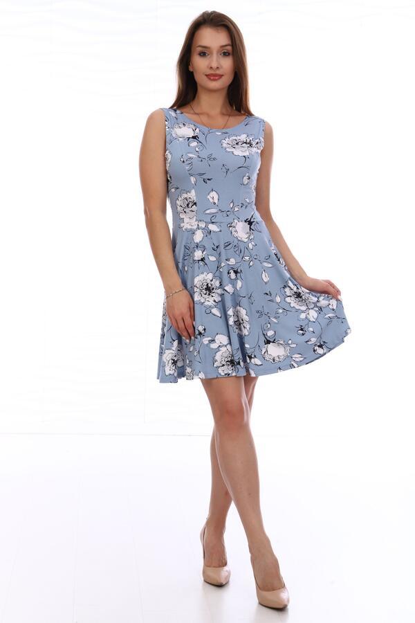 Платье Платье женское трикотажное отрезное по линии талии. Полочка и спинка с отрезным бочком. Нижняя часть платья покроя «полусолнце». Длина изделия выше колена. Лёгкое романтичное платье нежной расц
