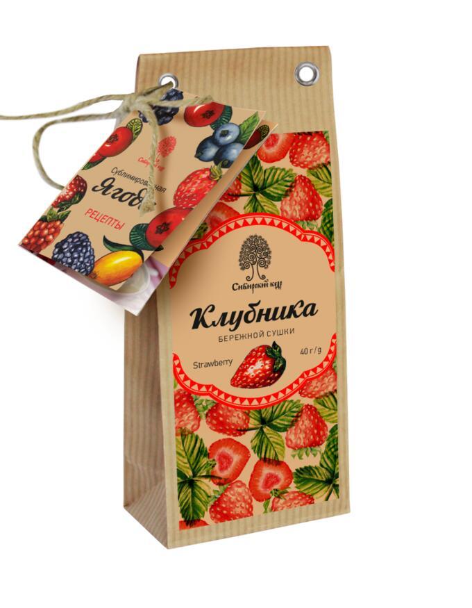 Сублимированная ягода клубники. 40г