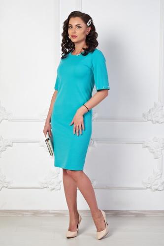 Платье Жемчужная бирюза П710-8