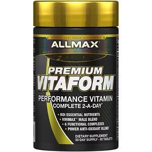 ALLMAX Nutrition, Premium Vitaform, Performance MultiVitamin, 30-дневный мультивитаминный комплекс для мужчин, 60 таб