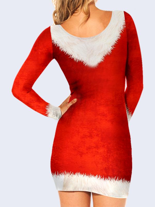3D платье Пляжный Санта-Клаус