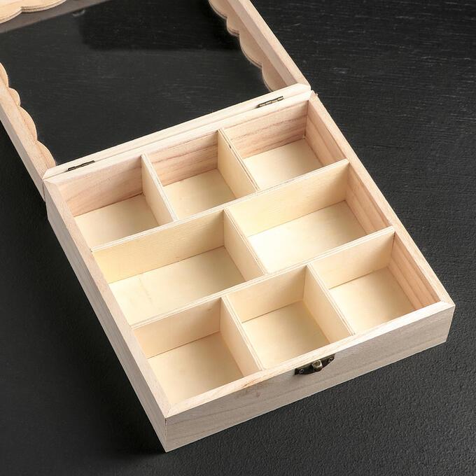 Ящик для хранения чайных пакетиков «Бергинни», 20?20?6,5 см, 8 ячеек