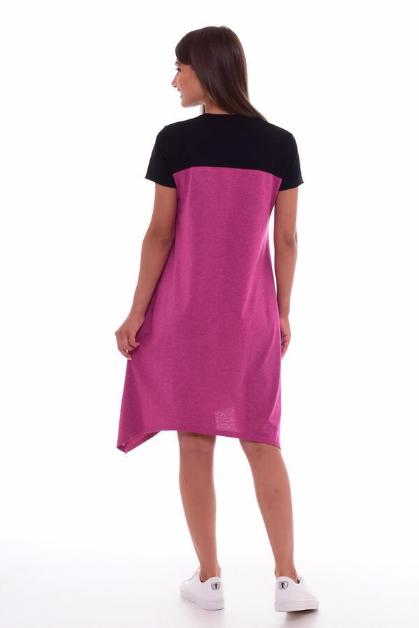 Платье женское 4-63 (малина-меланж)