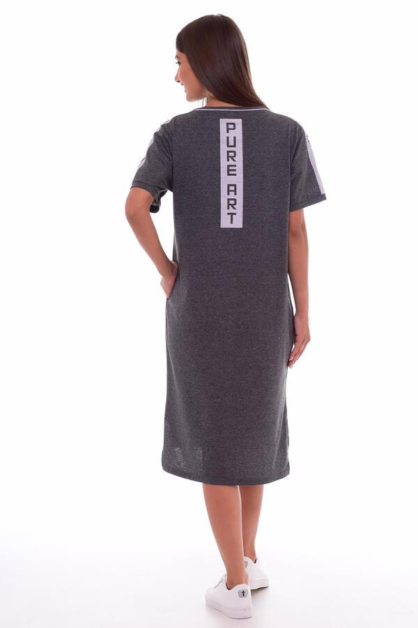 Платье женское 4-61а (антрацит-меланж)