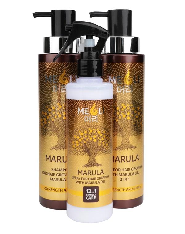 Спрей для роста волос с маслом Марулы комплексный уход 12 в 1, 250мл MEOLI