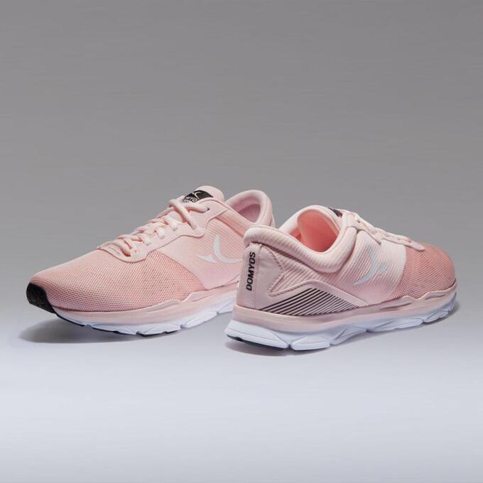 Кроссовки для кардиофитнеса женские розовые 500 DOMYOS