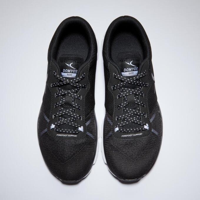 Кроссовки для кардиофитнеса женские черные 500 DOMYOS