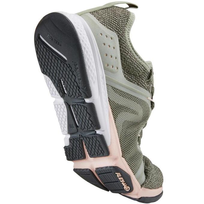 Женские кроссовки для спортивной ходьбы PW 540 хаки/розовые NEWFEEL