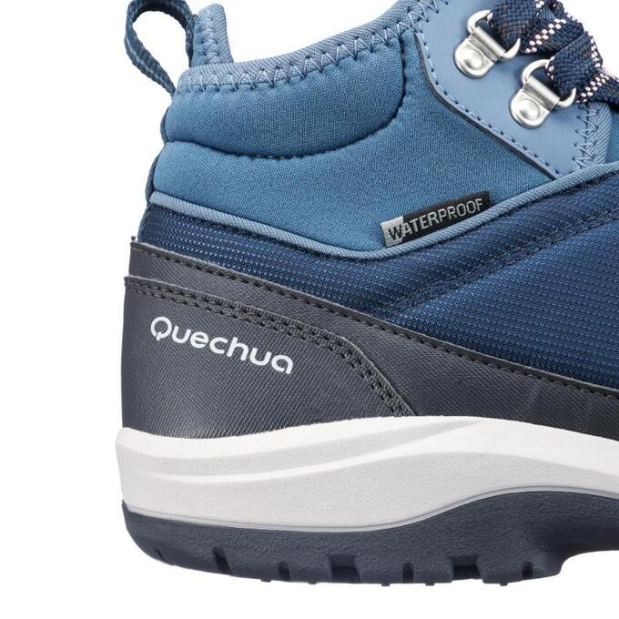 Ботинки женские для походов NH150 mid Protect QUECHUA