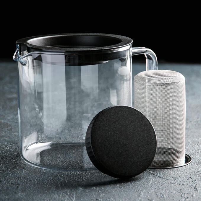 Чайник заварочный 1,3 л, с металлическим фильтром