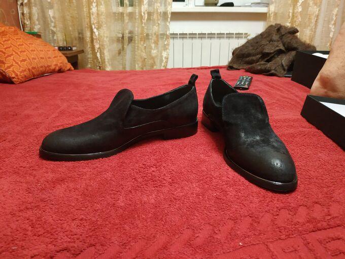 Итальянские ботинки замшевые черные 25 см во Владивостоке