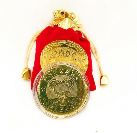 Счастливая монета в мешочке год крысы арт3