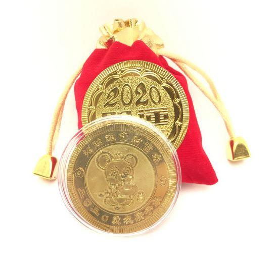 Счастливая монета в мешочке год крысы арт2